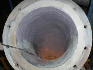 Popravak koljena cijevi za transport ugljene prašine