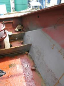 Oštećenje na vanjska stijeni spremnika za odsumporavanje