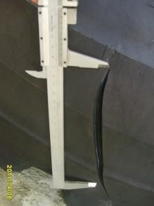 Oštećenje na gumi bagera