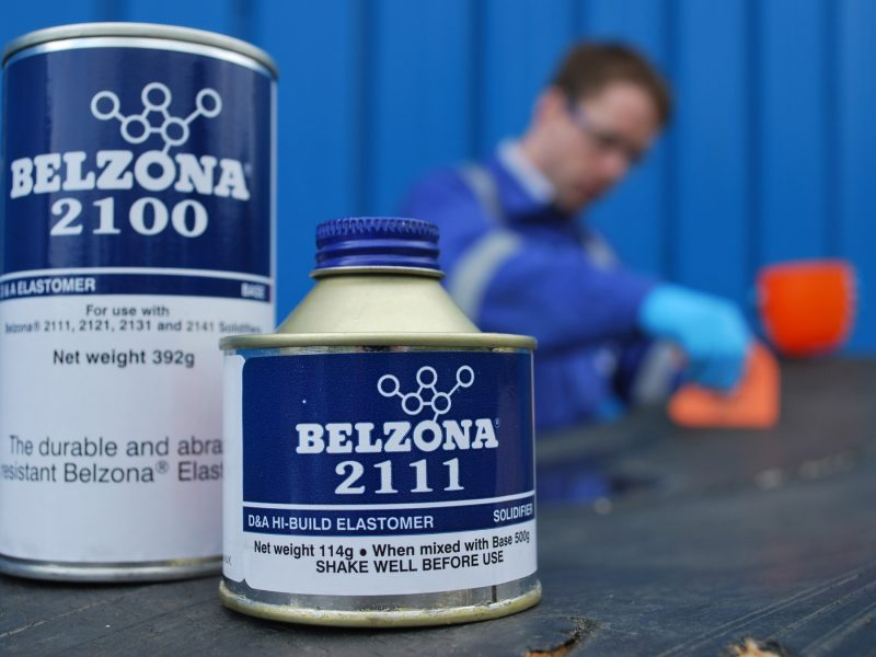 Belzona 2111 (D&A Elastomer) poliuretanski elastomer otporan na abraziju z popravak, nadogradnju i premaz gumenih komponenti i metalnih površina