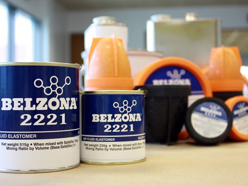 Belzona 2221 (MP Fluid Elastomer) čvrst, fleksibilan, višenamjenski poliuretanski elastomer za popravak i premaz gumenih komponenti i metalnih površina te odljevanje novih komponenti