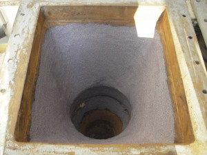 Zaštita ljevka za prijenos pepela od abrazije