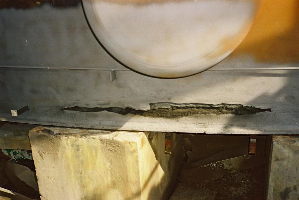 Sanacija pukotine na spremniku sumporne kiseline