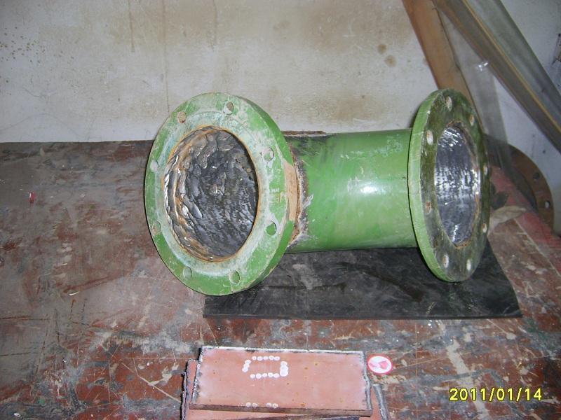 Zaštita oštećenog koljena cijevi na plovnom bageru