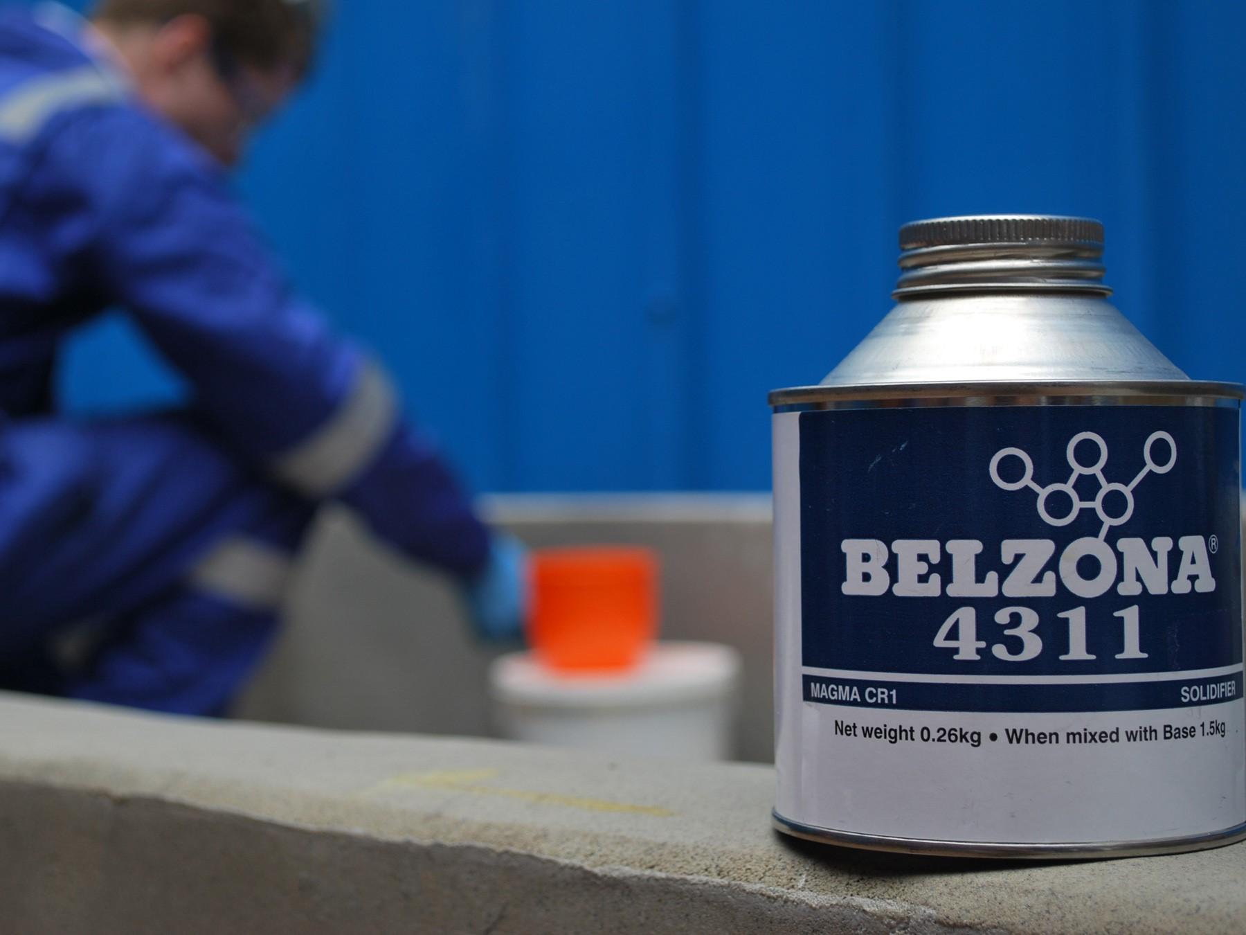 Belzona 4311 (Magma CR1) visokotemperaturni epoxy premaz za zaštitu betonskih i metalnih površina koje su u kontaktu sa vrućim kiselinama i drugih kemikalijama