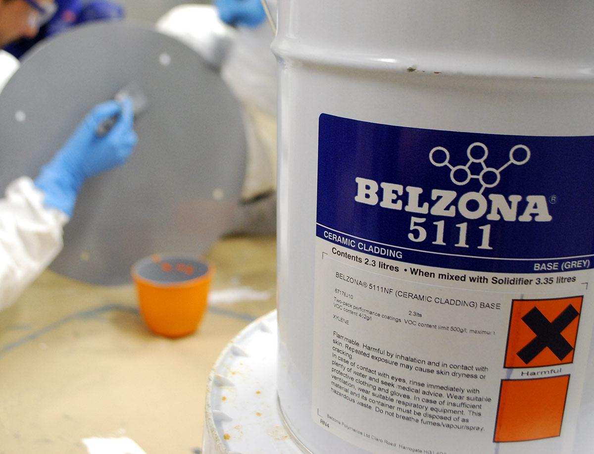 Belzona 5111 (Ceramic Cladding) – uretanski premaz za zaštitu metalnih i građevnih površina od kemijskih, abrazionih i bakterijskihi utjecaja